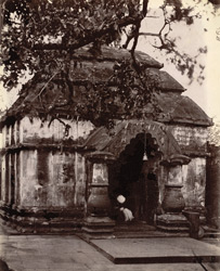 A large temple, Kalyanesvari, Burdwan District.
